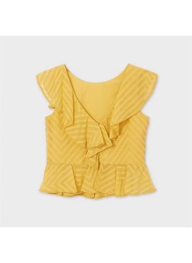Mayoral Mayoral Kiz Çocuk Sirt Modelli Bluz Sarı 20105 Sarı